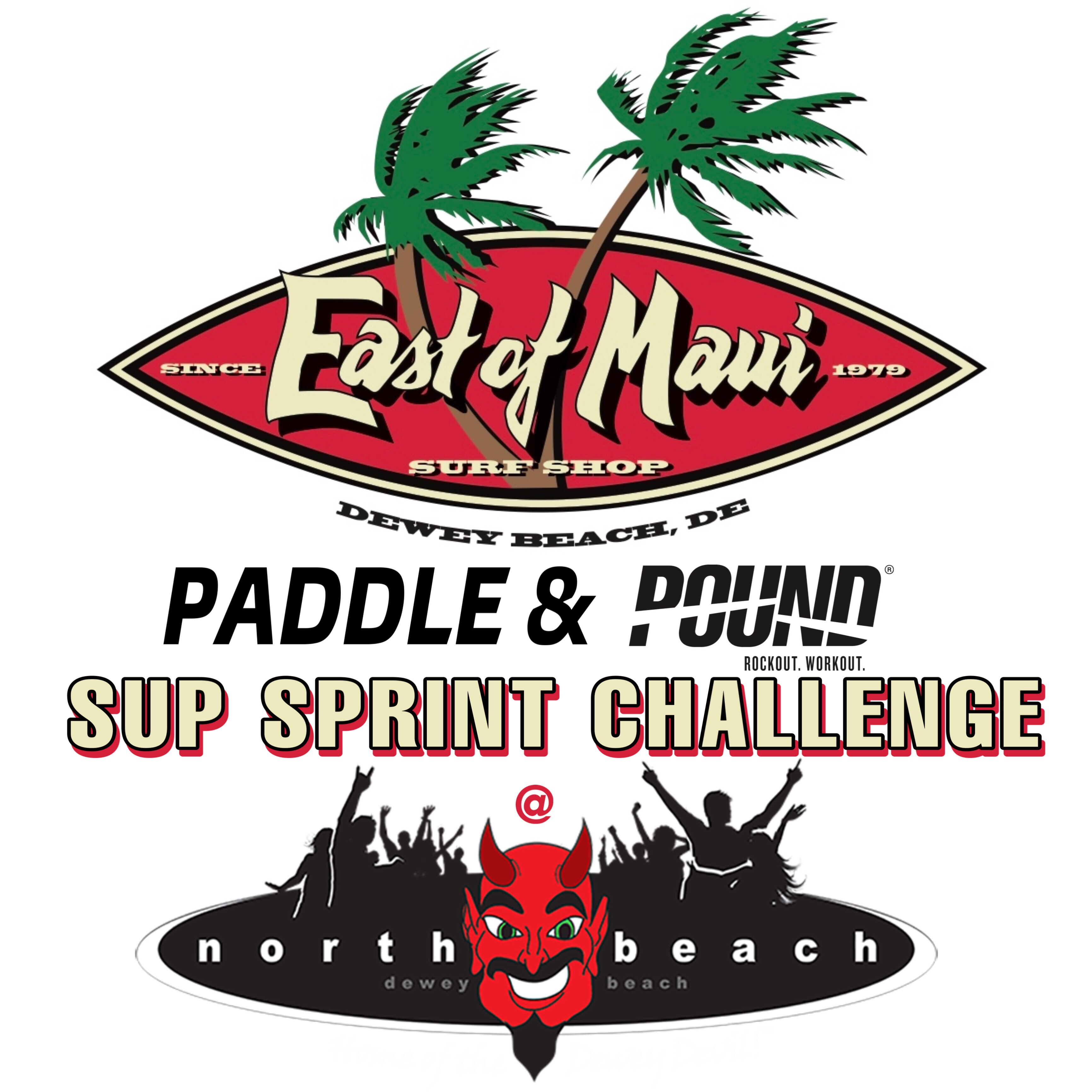 66cf29d8efbe3 East of Maui Paddle & Pound SUP Sprint Challenge @ Northbeach